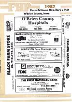 Title Page, O'Brien County 1987